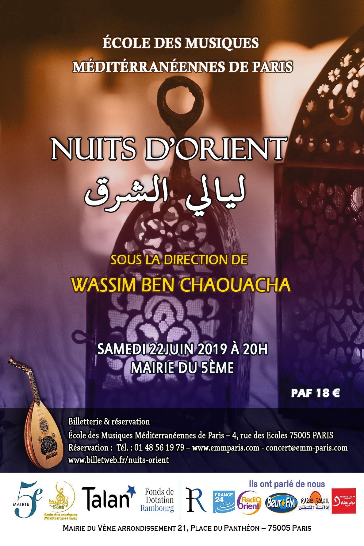 Affiche musique orientale